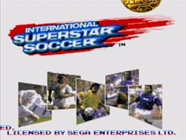 Title screen of International Superstar Soccer Deluxe on the Sega Nomad.