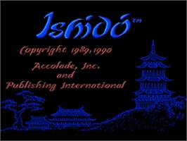 Title screen of Ishido: The Way of Stones on the Sega Nomad.