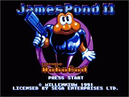 Title screen of James Pond 2: Codename: RoboCod on the Sega Nomad.