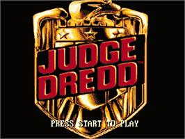 Title screen of Judge Dredd on the Sega Nomad.