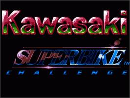 Title screen of Kawasaki Superbike Challenge on the Sega Nomad.
