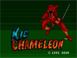 Title screen of Kid Chameleon on the Sega Nomad.