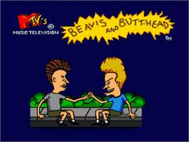Title screen of MTV's Beavis and Butthead on the Sega Nomad.