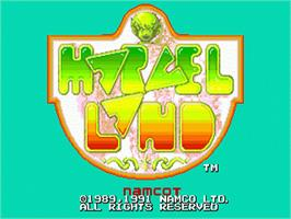 Title screen of Marvel Land on the Sega Nomad.