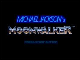 Title screen of Michael Jackson's Moonwalker on the Sega Nomad.