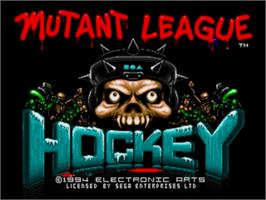 Title screen of Mutant League Hockey on the Sega Nomad.