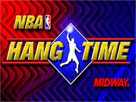 Title screen of NBA Hang Time on the Sega Nomad.