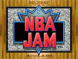 Title screen of NBA Jam on the Sega Nomad.