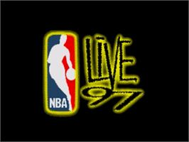 Title screen of NBA Live '97 on the Sega Nomad.