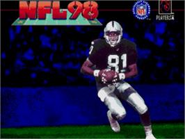 Title screen of NFL 98 on the Sega Nomad.