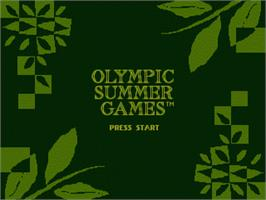 Title screen of Olympic Summer Games on the Sega Nomad.