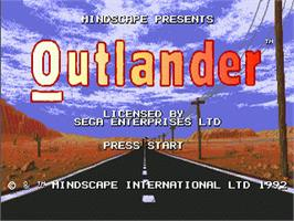 Title screen of Outlander on the Sega Nomad.
