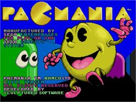 Title screen of Pac-Mania on the Sega Nomad.