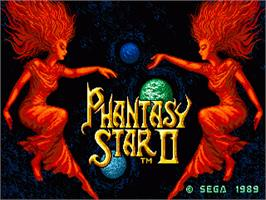 Title screen of Phantasy Star 2 on the Sega Nomad.
