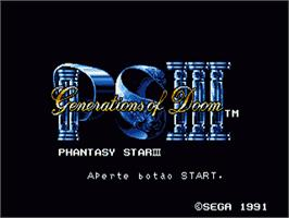 Title screen of Phantasy Star 3: Generations of Doom on the Sega Nomad.