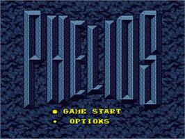 Title screen of Phelios on the Sega Nomad.