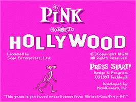 Title screen of Pink Goes to Hollywood on the Sega Nomad.
