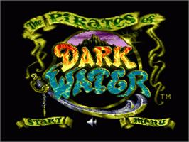 Title screen of Pirates of Dark Water, The on the Sega Nomad.