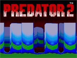 Title screen of Predator 2 on the Sega Nomad.