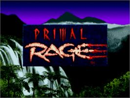 Title screen of Primal Rage on the Sega Nomad.