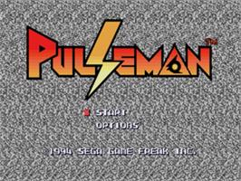 Title screen of Pulseman on the Sega Nomad.