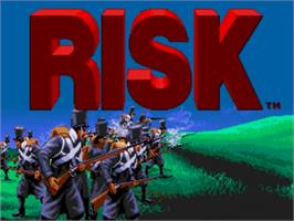 Title screen of Risk on the Sega Nomad.