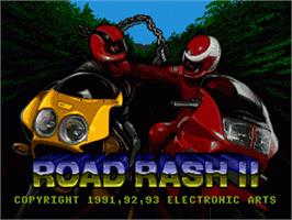 Title screen of Road Rash 2 on the Sega Nomad.