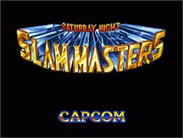 Title screen of Saturday Night Slam Masters on the Sega Nomad.