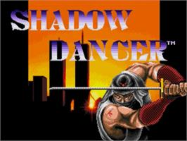 Title screen of Shadow Dancer: The Secret of Shinobi on the Sega Nomad.