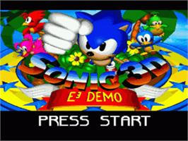 Title screen of Sonic 3D Blast on the Sega Nomad.