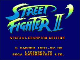 Title screen of Street Fighter II' - Champion Edition on the Sega Nomad.