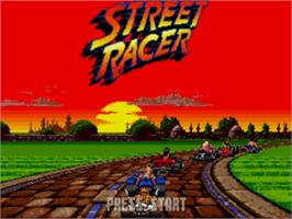 Title screen of Street Racer on the Sega Nomad.