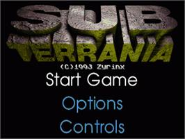 Title screen of Sub-Terrania on the Sega Nomad.