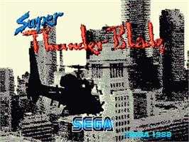 Title screen of Super Thunder Blade on the Sega Nomad.