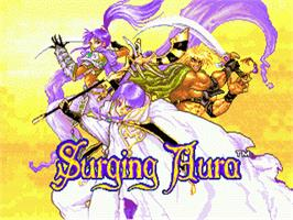 Title screen of Surging Aura on the Sega Nomad.
