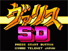 Title screen of Syd of Valis on the Sega Nomad.