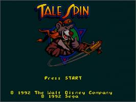 Title screen of TaleSpin on the Sega Nomad.