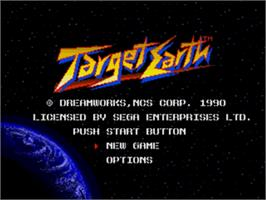 Title screen of Target Earth on the Sega Nomad.