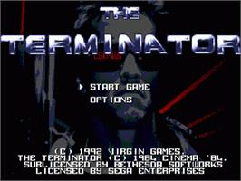 Title screen of Terminator, The on the Sega Nomad.