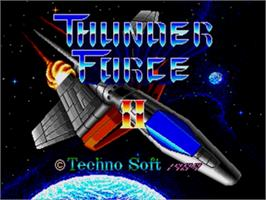 Title screen of Thunder Force II on the Sega Nomad.
