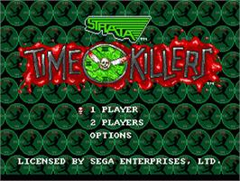Title screen of Time Killers on the Sega Nomad.