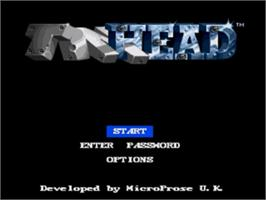 Title screen of Tin Head on the Sega Nomad.