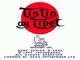 Title screen of Tintin in Tibet on the Sega Nomad.