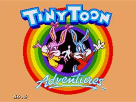 Title screen of Tiny Toon Adventures: Buster's Hidden Treasure on the Sega Nomad.