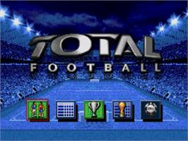 Title screen of Total Football on the Sega Nomad.
