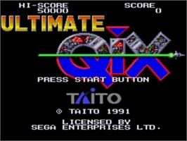 Title screen of Ultimate Qix on the Sega Nomad.