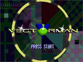 Title screen of Vectorman on the Sega Nomad.