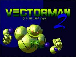 Title screen of Vectorman 2 on the Sega Nomad.