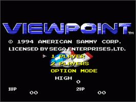 Title screen of Viewpoint on the Sega Nomad.
