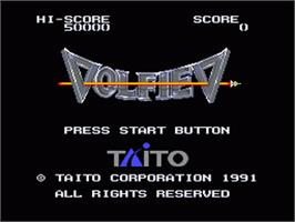 Title screen of Volfied on the Sega Nomad.